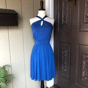 🆕Rachel Pally Marlien Blue Knit Halter Dress XS